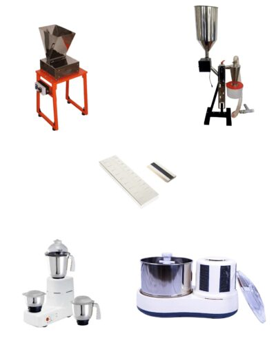 Spectra Starter Kit - Spectra Cocoa Cracker Machine | Mikro Winnower | Pre Grinder | Spectra 11 Stone Grinder | Micron Meter